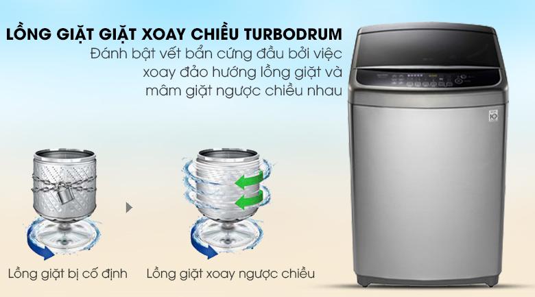 Công nghệ Turbo Drum giảm nhăn quần áo - Máy giặt LG Inverter 12 kg TH2112SSAV