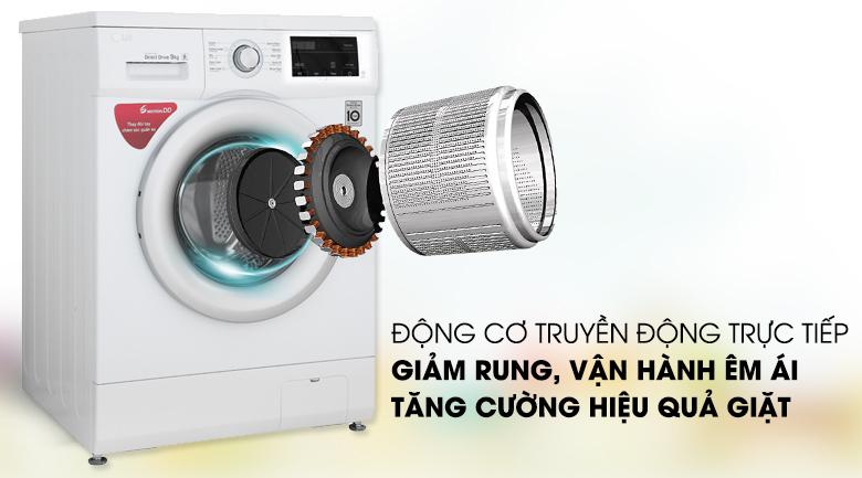 Động cơ truyền động trực tiếp - Máy giặt LG Inverter 9 kg FM1209N6W