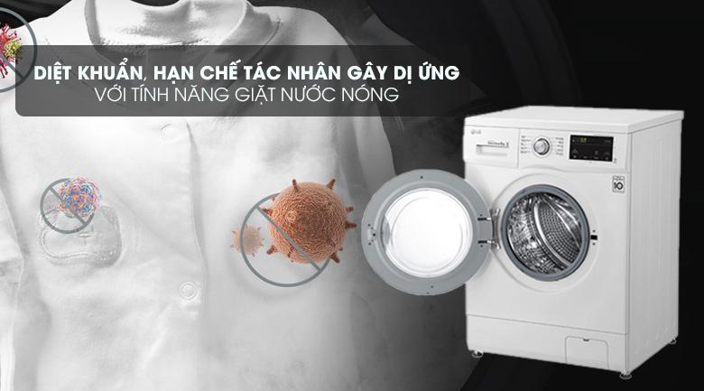 Giặt nước nóng - Máy giặt LG Inverter 9 kg FM1209N6W