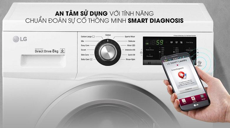 Chẩn đoán thông minh - Máy giặt LG Inverter 9 kg FM1209N6W