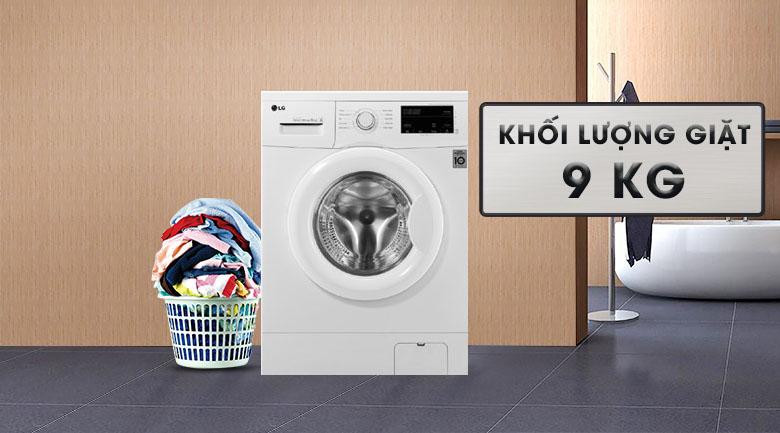 Khối lượng giặt 9 kg - Máy giặt LG Inverter 9 kg FM1209N6W