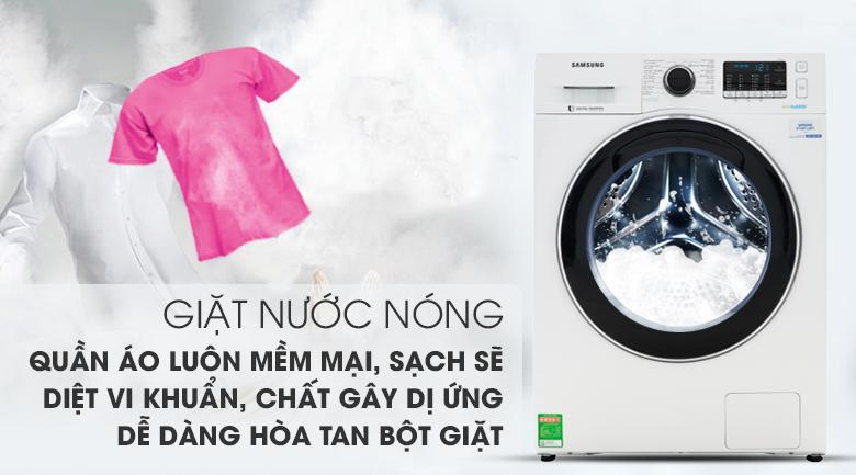 Giặt nước nóng - Máy giặt Samsung Addwash Inverter 10 kg WW10K54E0UW/SV