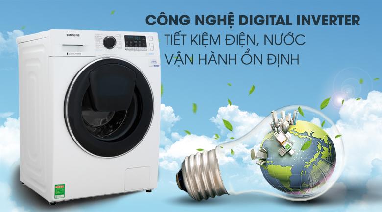 Công nghệ Digital Inverter - Máy giặt Samsung Addwash Inverter 10 kg WW10K54E0UW/SV