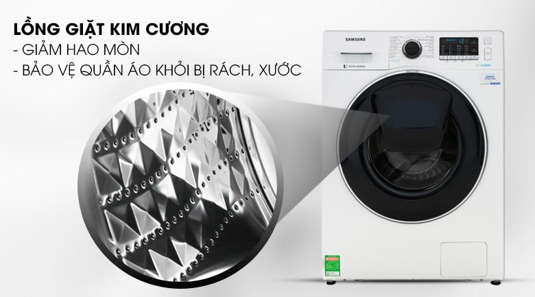 Lồng giặt kim cương - Máy giặt Samsung Addwash Inverter 10 kg WW10K54E0UW/SV
