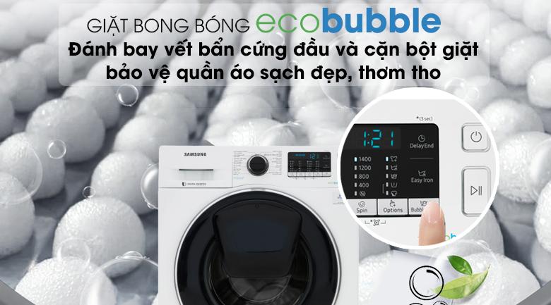 Công nghệ Eco Bubble - Máy giặt Samsung Addwash Inverter 10 kg WW10K54E0UW/SV