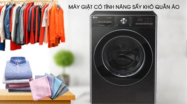 Máy giặt sấy - Máy giặt sấy LG Inverter 10.5 kg FV1450H2B