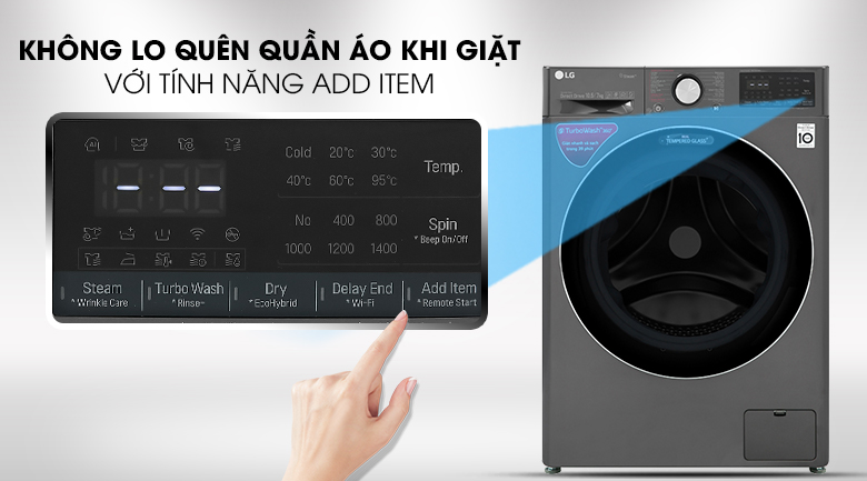 Máy giặt LG FV1450H2B - Tính năng Add Item