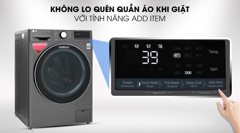 Máy giặt LG FV1450S2B - Tính năng Add Item