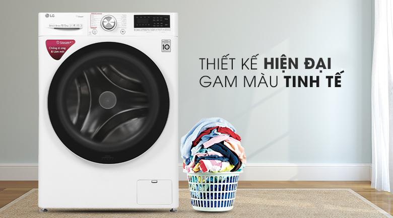 Máy giặt LG Inverter 10.5 kg FV1450S3W  - Thiết kế hiện đại, gam màu tinh tế