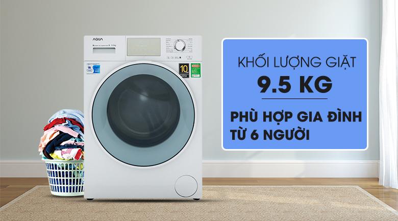 Thiết kế hiện đại, sang trọng - Máy giặt Aqua Inverter 9.5 kg AQD-D950E W