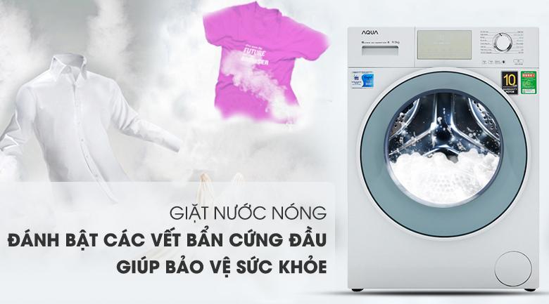 Giặt nước nóng diệt khuẩn - Máy giặt Aqua Inverter 9.5 kg AQD-D950E W