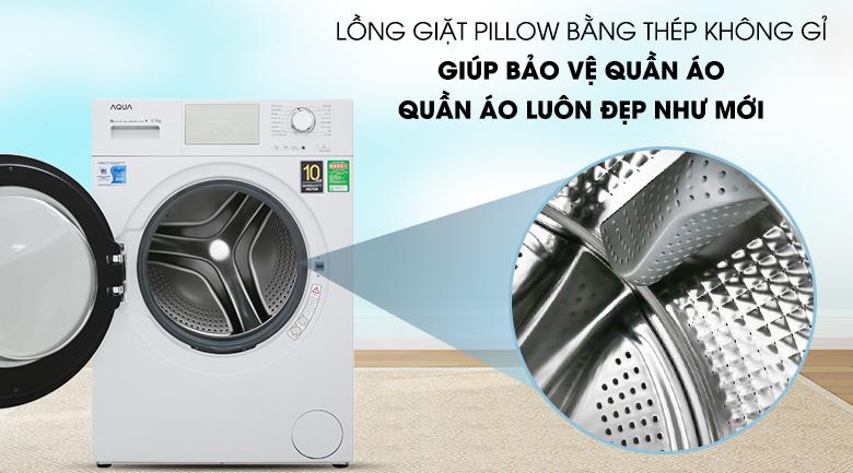 Lồng giặt Pillow bằng thép chống gỉ - Máy giặt Aqua AQD-D950E W