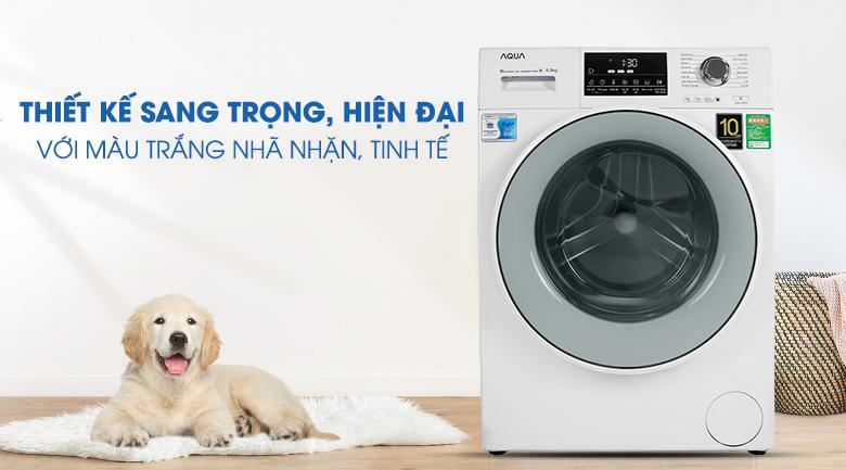 Thiết kế hiện đại, sang trọng - Máy giặt Aqua Inverter 8.5 kg AQD-D850E W