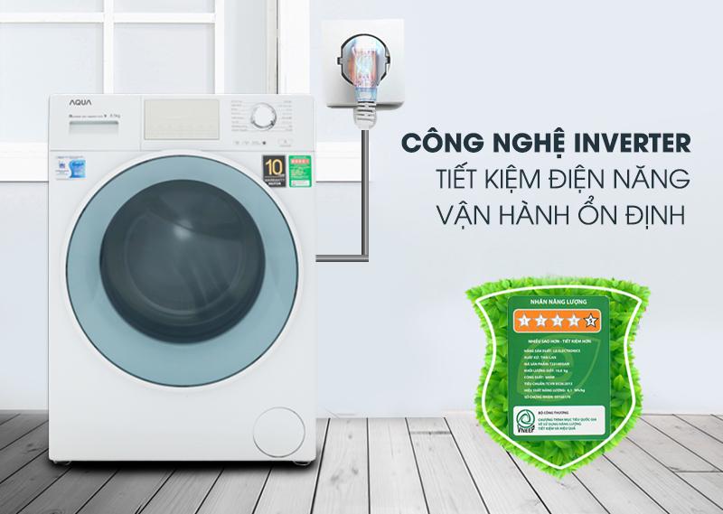 Công nghệ Inverter - Máy giặt Aqua Inverter 8.5 kg AQD-D850E W