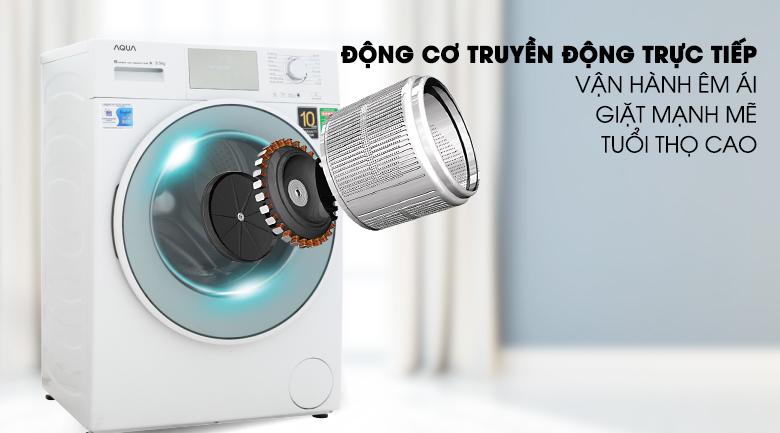 Động cơ truyền động trực tiếp - Máy giặt Aqua Inverter 8.5 kg AQD-D850E W