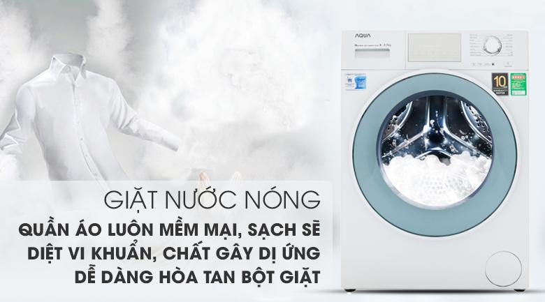 Giặt nước nóng diệt khuẩn - Máy giặt Aqua Inverter 8.5 kg AQD-D850E W