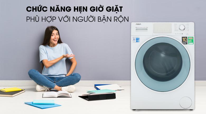 Tính năng hẹn giờ giặt xong - Máy giặt Aqua Inverter 8.5 kg AQD-D850E W
