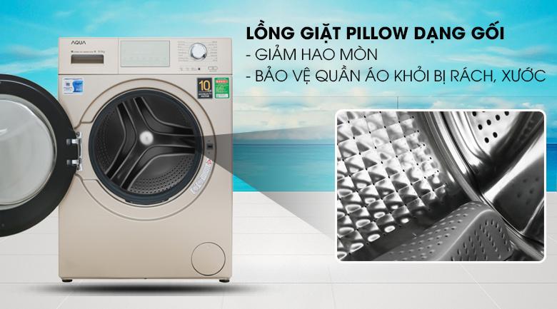 Lồng giặt Pillow - Máy giặt Aqua Inverter 9.5 kg AQD-D950E N