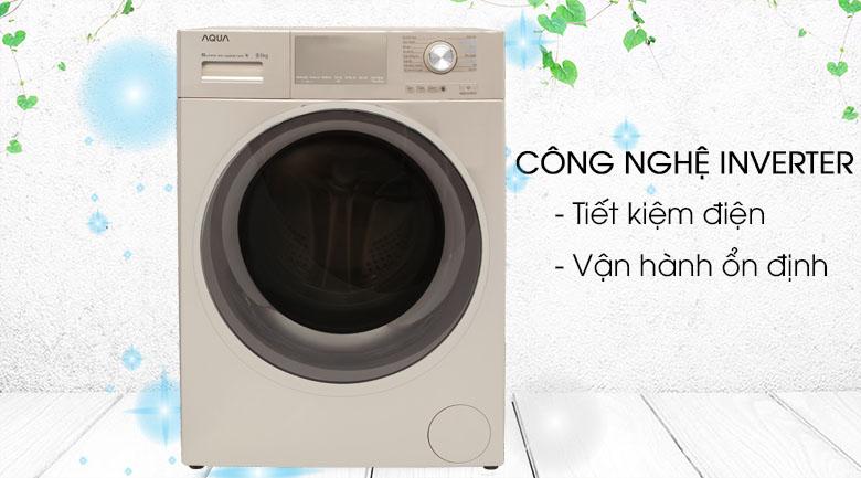 Công nghệ Inverter - Máy giặt Aqua Inverter 9.5 kg AQD-D950E N
