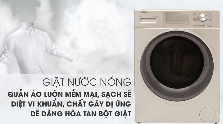 Giặt nước nóng - Máy giặt Aqua Inverter 9.5 kg AQD-D950E N
