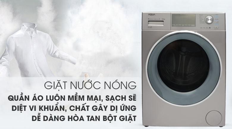 Giặt nước nóng - Máy giặt Aqua Inverter 9.5 kg AQD-DD950E S