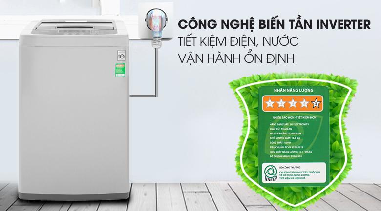 Máy giặt LG Inverter 8 kg T2108VSPM2 - Tiết kiệm điện nhờ công nghệ biến tần Inverter