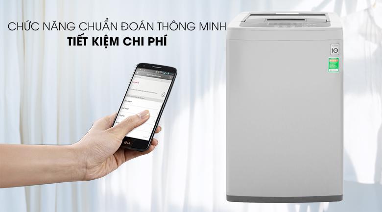 Máy giặt LG Inverter 8 kg T2108VSPM2-Tiết kiệm chi phí nhờ chức năng chuẩn đoán thông minh