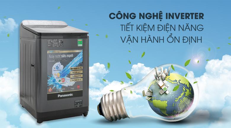 Công nghệ Inverter tiết kiệm điện - Máy giặt Panasonic Inverter 10.5 Kg NA-FD10VR1BV