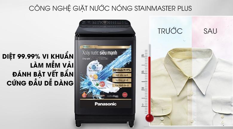 Công nghệ giặt nước nóng StainMaster+ - Máy giặt Panasonic Inverter 10.5 Kg NA-FD10VR1BV