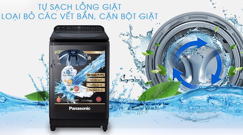 Tự vệ sinh lồng giặt giúp lồng giặt luôn sạch sẽ - Máy giặt Panasonic Inverter 10.5 Kg NA-FD10VR1BV