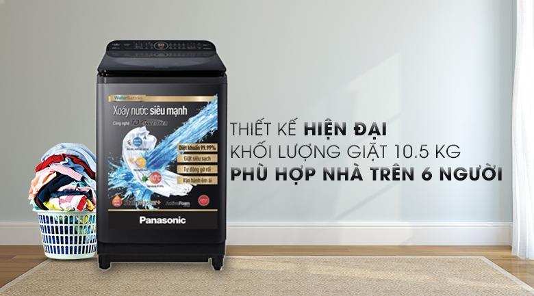 Thiết kế sang trọng, hiện đại - Máy giặt Panasonic Inverter 10.5 Kg NA-FD10VR1BV