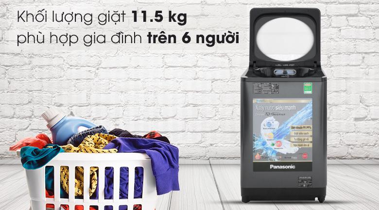 Khối lượng giặt 11.5 kg - Máy giặt Panasonic Inverter 11.5 Kg NA-FD11VR1BV