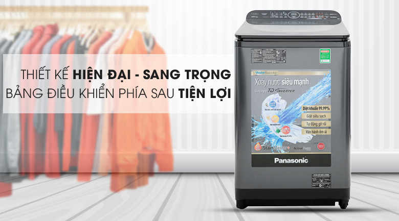 Kiểu dáng sang trọng, tiện lợi - Máy giặt Panasonic Inverter 11.5 Kg NA-FD11VR1BV