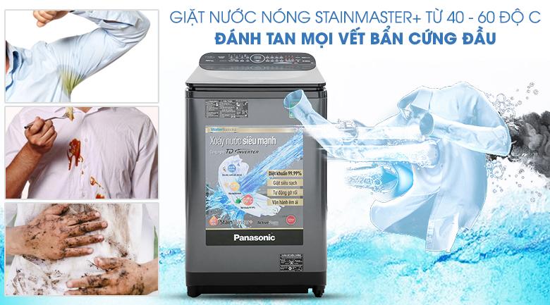 Giặt nước nóng StainMaster+ - Máy giặt Panasonic Inverter 11.5 Kg NA-FD11VR1BV