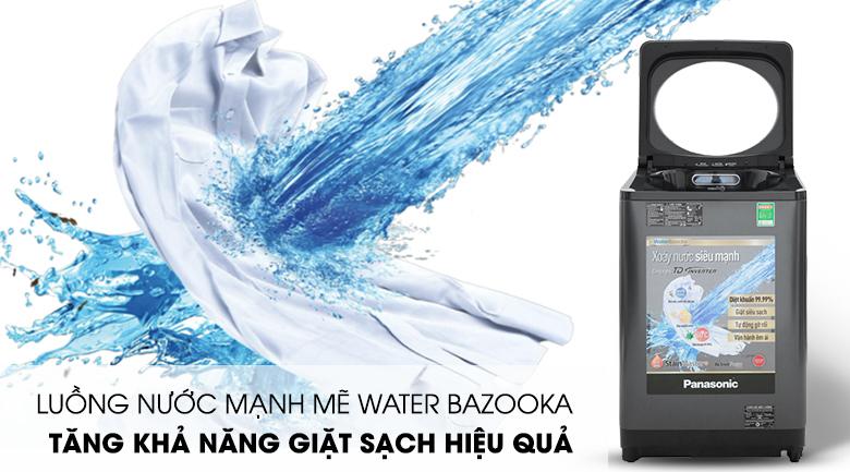Giặt mạnh mẽ với luồng nước Water Bazooka - Máy giặt Panasonic Inverter 11.5 Kg NA-FD11VR1BV