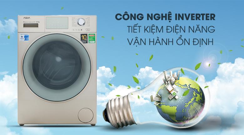 Công nghệ Inverter - Máy giặt Aqua Inverter 10.5 kg AQD-D1050E N