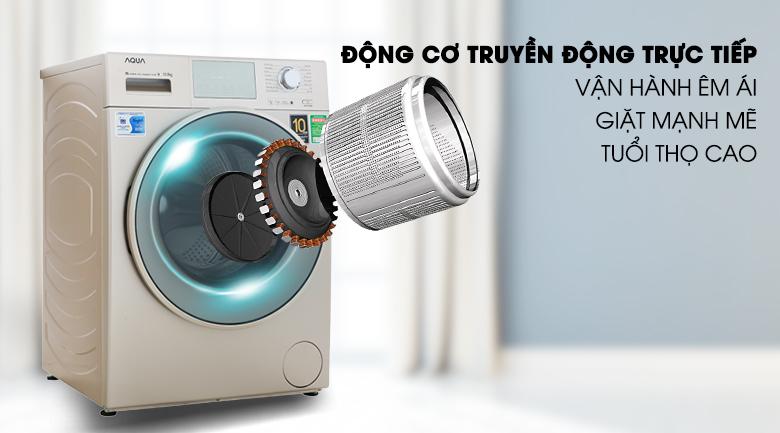 Động cơ truyền động trực tiếp - Máy giặt Aqua Inverter 10.5 kg AQD-D1050E N