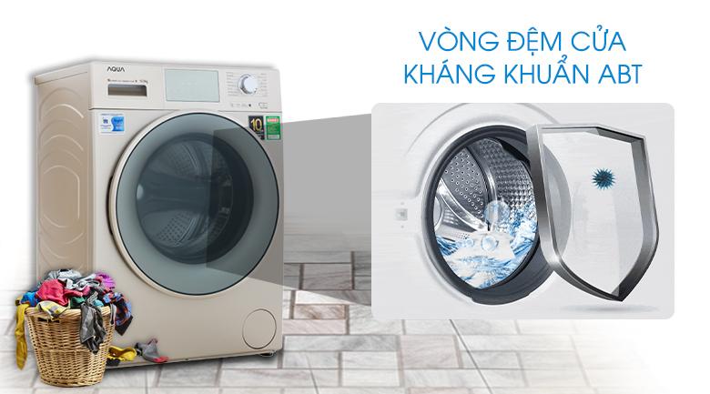 Vòng đệm cửa kháng khuẩn (ABT) - Máy giặt Aqua Inverter 10.5 kg AQD-D1050E N