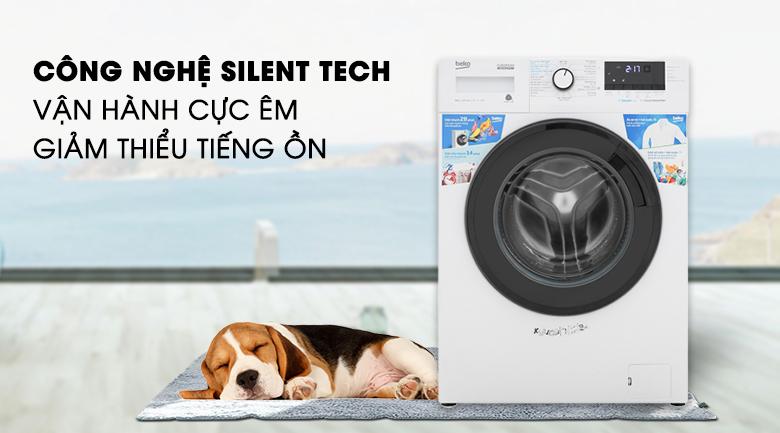Máy giặt Beko Inverter 9 kg WCV9612XB0ST - Giặt êm với công nghệ Silent Tech