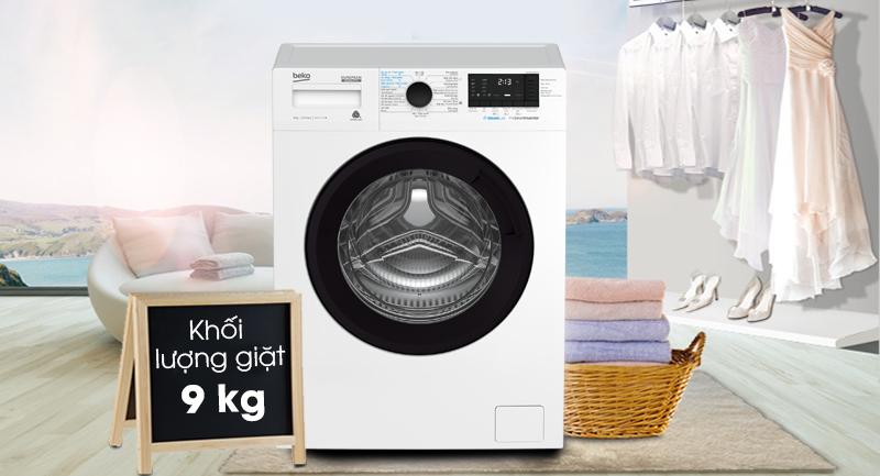Máy giặt Beko Inverter 9 kg WCV9612XB0ST -Khối lượng giặt 9kg, phù hợp cho gia đình từ 4 - 6 người
