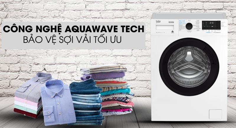 Máy giặt Beko Inverter 9 kg WCV9612XB0ST -Bảo vệ sợi vải tối ưu nhờ công nghệ Aquawave Tech