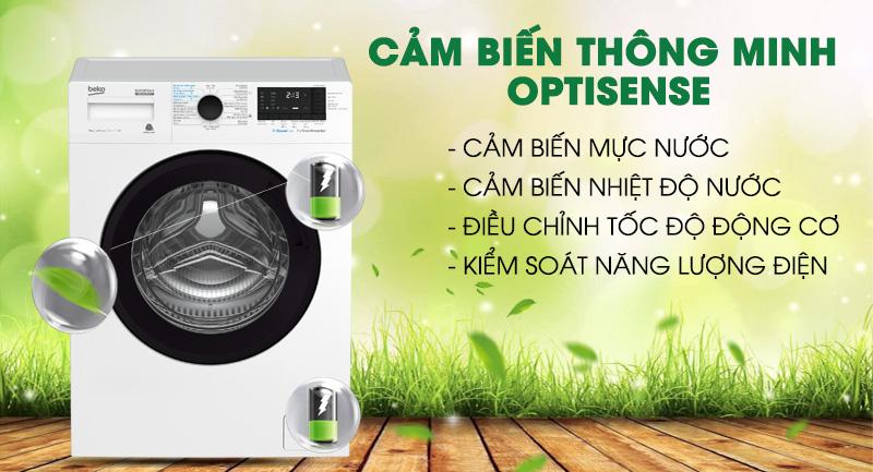 Máy giặt Beko Inverter 9 kg WCV9612XB0ST -Hiệu quả giặt vượt trội bởi cảm biến thông minh Optisense