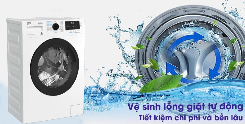 Máy giặt Beko Inverter 9 kg WCV9612XB0ST -Bền lâu, tiết kiệm chi phí với chức năng vệ sinh lồng giặt