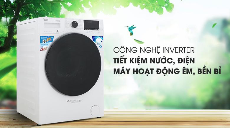 Máy giặt Beko Inverter 9 kg WCV9649XWST - Tiết kiệm điện, nước bởi công nghệ Inverter
