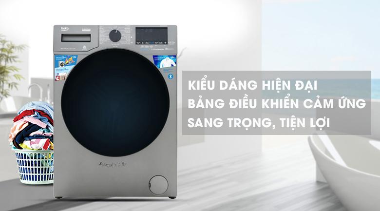 Máy giặt Beko Inverter 9 kg WCV9749XMST-Kiểu dáng hiện đại, mang phong cách châu Âu
