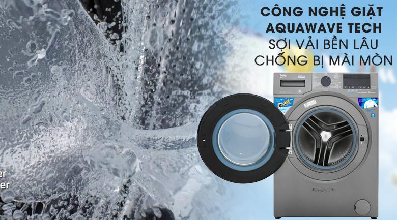 Máy giặt Beko Inverter 9 kg WCV9749XMST-Quần áo bền lâu nhờ công nghệ Aquawave Tech