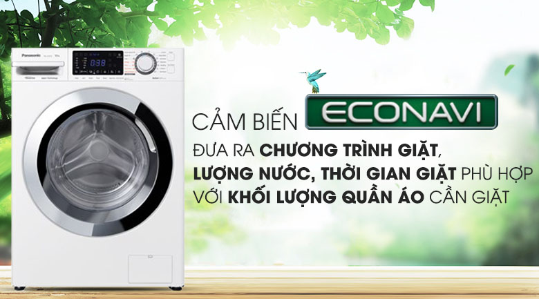 Cảm biến Econavi - Máy giặt Panasonic Inverter 9 Kg NA-V90FG1WVT