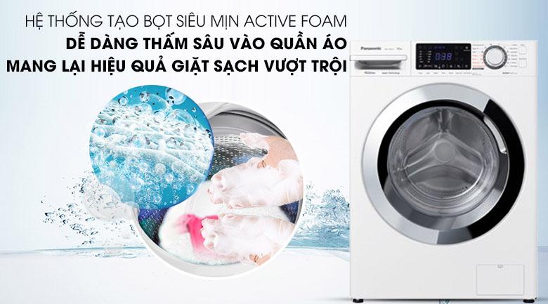 Hệ thống Acitve Foam - Máy giặt Panasonic Inverter 9 Kg NA-V90FG1WVT