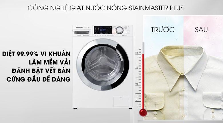 Giặt nước nóng StainMaster+ - Máy giặt Panasonic Inverter 10 Kg NA-V10FG1WVT