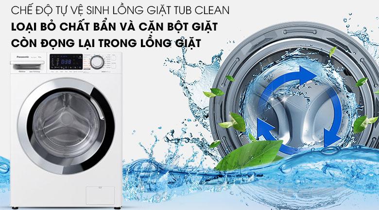 Tự vệ sinh lồng giặt - Máy giặt Panasonic Inverter 10 Kg NA-V10FG1WVT